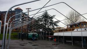 The annex structure goes up.